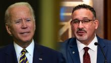 Biden has asked Education Secretary Miguel Cardona to compile a memo on his legal authority to forgive student loan debt. Photo: Getty Images