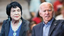 Activist Dolores Huerta supports Joe Biden in his presidential campaign.