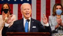 President Biden adressing a joint session of Congress on April 28, 2019. Photo: Getty Images