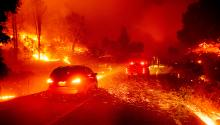 The devastating fires have caused unprecedented damage across the West Coast. Photo: AP