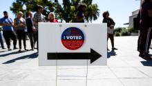 California GOP placed unofficial ballot drop-off boxes throughout Southern California. Photo: Getty Images