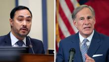 Rep. Joaquin Castro, and top Latinx leaders in Texas are fighting back against Gov. Abbott's latest order. Photo: Dallas News