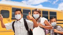 Children return to school with health protocols. Photo: Depositphotos