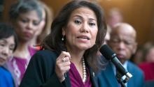 Veronica Escobar represents El Paso in Congress, on the frontlines of the migrant situation at the U.S.-Mexico border. Gettyimages