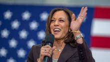 47% of registered voters have an unfavorable opinion of Vice President Kamala Harris. Photo: Getty Images