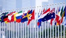 Banderas de las nacoines que participan en Tokio 2020. Foto: Getty Images