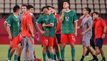 Mexico after losing to Brazil on penalties in the 2020 Tokyo Olympic Games. Photo: Getty Images.