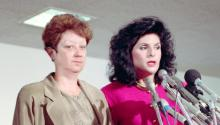 Norma McCorvey with her Attorney Gloria Allred, 18th September 1990.  Bettmann/Getty Images