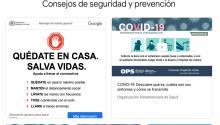 Google lanza el sitio web 'COVID-19 Información y Recursos'.