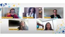The panelists of HACR's recent webinar: Afro-Latinas in Corporate America: A Conversation on Race and Gender. Screenshot: HACR