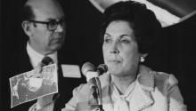 Chile's former First Lady Hortensia Bussi Soto de Allende (1914 - 2009). Photo: Getty Images.