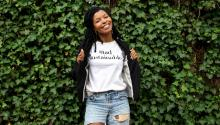 Kimberly McGlonn is focusing on creating her businessby creating sustainable clothing. Photo: Kimberly McGlonn.