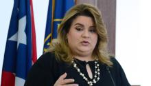 Jenniffer González omits her support of Trump in her latest push for reelection in Puerto Rico. Photo: Univision