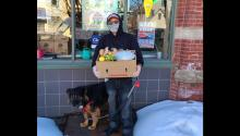 Rights and Freeman developed a food distribution that began on their porch. Photo courtesy of Jessica Rights.