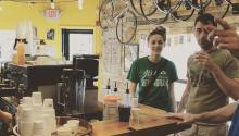 The unique eatery offers coffees and bike repairs: Photo: Kayuh Bicycles and cafe