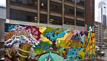 Participants involved in Color Me Back are making the city a brighter place. Photo: Arts.gov