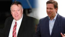Mike Pompeo and Ron DeSantisboth leading figures in the GOP to capture the party'snomination for president in 2024. Photo: Getty Images.