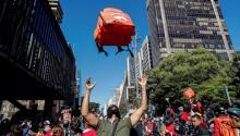 Repartidores realizan huelga de 24 horas en todo Brasil para exigir mejoras Sao Paulo, 1 jul (EFE)