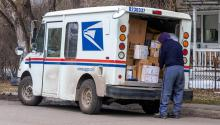 Trump is undermining the election by coming after the USPS. Photo: Getty Images