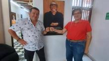 La Fundación GABO ha existido por 26 años, todo el tiempo bajo el liderazgo del Director General, Jaime Abello Banfi (a la derecha). A la izquierda al fundador y CEO de AL DIA, Hernán Guaracao Calderón. Al centro, un poster de García Márquez.AL DIA News Media