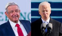 Mexican President Andrés Manuel López Obrador and U.S. President Joe Biden, held their first phone call together on Jan. 22. Photos: Getty Images