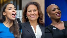 Reps. Rashida Tlaib, Ayanna Pressley, Ilhan Omar, Alexandria Ocasio-Cortez, Veronica Escobar, Mark Pocan, Alan Lowenthal, and Mary Gay Scanlon co-signed the document to the U.N.. Photo: Gettyimages - Twitter - Bostonglobe