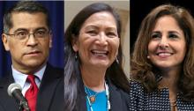 Xavier Becerra, Deb Haaland, and Neera Tanden have all faced intense questioning by the Senate. Photo: Getty Images.