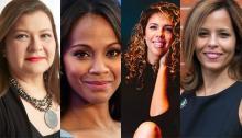 Claudia Mirza, Zoe Saldana, Nicole Marquis, Jennifer Rodríguez.