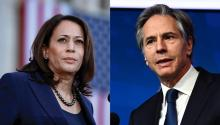 Vice president Kamala Harris (left) and Secretary of State Antony Blinken both spoke at the 51st Washinton Conference on the Americas. Photo: Getty Images.