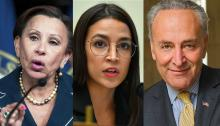 Reps. AOC, Schumer and Velázquez call on FEMA to make Puerto Rico's electrical grid upgrade sustainable. Photo: Getty images