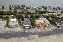 Daños del huracán Sandy en Mantoloking (Nueva Jersey).