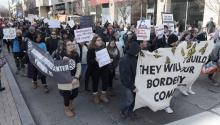 "On Thursday, ""Day Without Immigrants"" protest closed restaurants across the US. In the photo, a group of Latino immigrants demonstrated in Washington DC yesterday against Trump immigration raids. EFE"