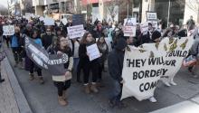 El Día sin Inmigrantes del pasado16 de febrerologrómovilizar a miles de personas en varias ciudades del país. Foto: EFE.