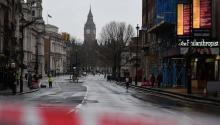 A locked down Whitehall in central London, Britain, Mar. 23, 2017. EPA/ANDY RAIN