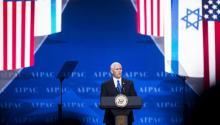 l vicepresidente de los Estados Unidos, Mike Pence, habla en la Conferencia de Políticas del Comité de Acción Política de Israel (AIPAC) en Washington, DC, 26 de marzo de 2017. EFE