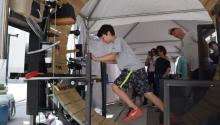 """The """"Maker Faire Miami,"""" which will conclude on April 9, 2017, has transformed the Wolfson Campus of Miami Dade College (MDC), into a zone of experimentation, bringing together more than 150 exhibitors of all ages and backgrounds, from science students to adults with far-ranging imaginations. EFE/Jorge Ignacio Perez"""