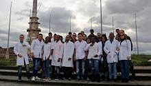 A group of Cuban doctors, in Bogota, Colombia on Apr. 16, 2017. EFE/LEONARDO MUÑOZ