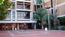 Main entrance to the main library of the University of Arizona, Tucson, Arizona. Photo: Wikipedia