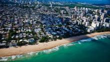 La capital de Puerto Rico, San Juan, vista desdeel aire. Foto: Wikipedia