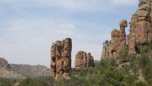 A general view of the landscape with rock formations in the Mexican municipality of Sombrerete in the state of Zacatecas, Mexico, April 25, 2017. EFE/Mariana Gonzalez