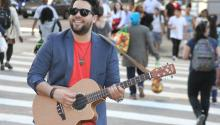 "Cuban musician San Miguel Perez has burst onto the Los Angeles music scene with his electro-acoustic ""tres"" - a traditional Cuban guitar-like instrument with three double steel strings and pedals - and has created a fusion of the sounds of his native land with rock and pop. EFE/Courtesy Criteria Entertainment"