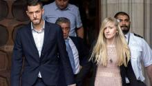 Chris Gard and Connie Yates, parents of the 11-month-old baby Charlie Gard, affected by mitochondrial DNA depletion syndrome, seen leaving the London High Court during their long and eventually unsuccessful legal fight to keep their terminally ill baby alive. EFE