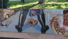 A mural reflects upon theZoot Suit Riots inLos Angeles, California. Photo: Flickr