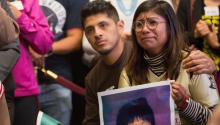Dreamers Jario Reyes, 25 of Rogers, Arkansas and Karen Caudillo, 21 of Orlando, Florida attends a press conference on deferred Action For Childhood Arrivals Program on Capitol Hill in Washington ,DC, USA, Sept. 6, 2017. EPA-EFE/TASOS KATOPODIS