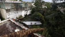 View of wreckage in the vicinity of the Santurce neighborhood in the aftermath of the hurricane Irma, in San Juan, Puerto Rico, Sept. 7, 2017. EPA-EFE/Thais Llorca