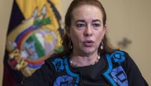 Ecuadorian foreign minister Maria Fernanda Espinosa during an interview with EFE in New York, USA on Sept. 21, 2017. EPA-EFE/Edu Bayer