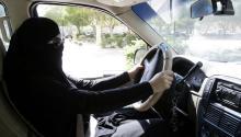 A Saudi woman sits behind the wheel of a car in Riyadh, Saudi Arabia, Oct. 28, 2013. EPA-EFE FILE/STR