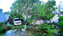 Undated photo provided by the Redlands Christian Migrant Association (RCMA) on Sept. 28, 2017 showing a house damaged by Hurricane Irma, in Immokalee, Florida, USA. EPA-EFE/RCMA