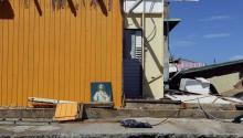 View of damage caused by Hurricane Maria, in the neighborhood La Perla of San Juan, Puerto Rico, Sept. 29, 2017. EPA-EFE FILE/Thais Llorca