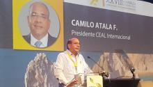 Photo provided by the Latin American Business Council (CEAL) showing CEAL International president Camilo Atala, during CEAL's 28th plenary assembly held in Los Cabos, Mexico on Oct. 5, 2017. EPA-EFE/CEAL